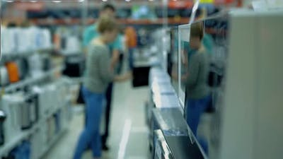 People in the Consumer Electronics Supermarket 3