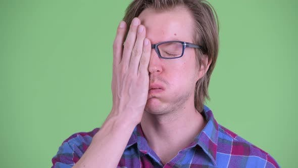 Thumbnail for Face of Stressed Young Hipster Man Showing Face Palm Gesture