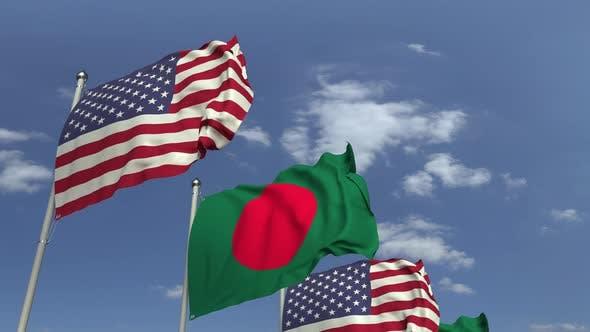 Flags of Bangladesh and the USA