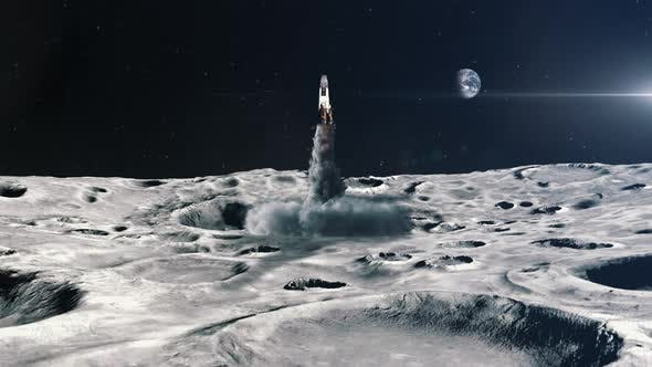 Thumbnail for Rocket Launching from the Surface of the Moon