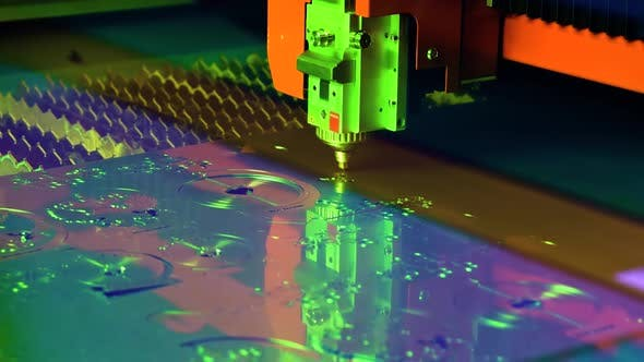 Cover Image for CNC Laser Cutting of Metal, Modern Industrial Technology