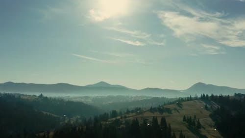 Aerial Dron Shot Mountains