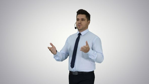 Thumbnail for Businessman making a presentation of new product or technology
