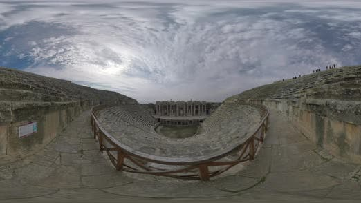 Thumbnail for 360 VR Roman Amphitheatre in Hierapolis, Turkey. Inside View