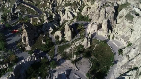 Thumbnail for Kappadokien Hügel und Türme Luftbild