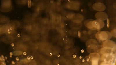 Macro of Champagne or Sparkling Wine
