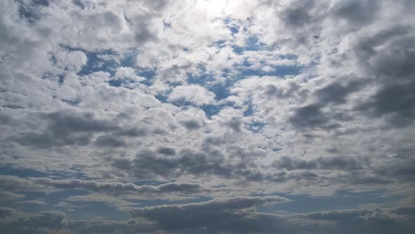 Thumbnail for Clouds Move Smoothly in the Blue Sky. Timelapse. Cloud Space