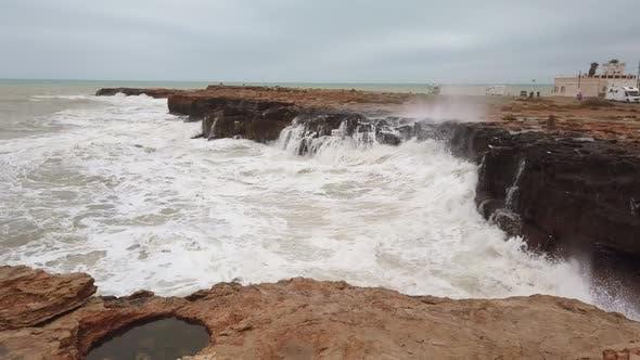 Thumbnail for Extreme Wave Crashing Coast - Slow Motion, Big Wave.
