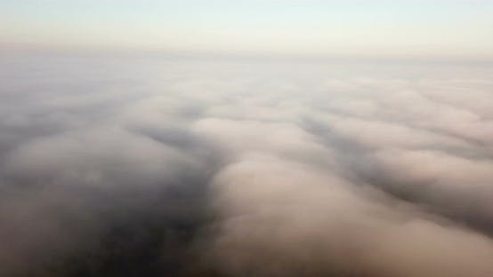 Thumbnail for Misty Dawn Flying Above the Clouds