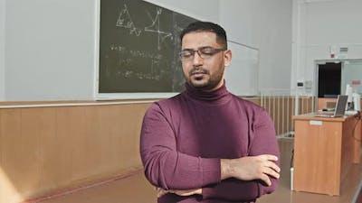 Portrait of Mixed-Race University Professor of Mathematics