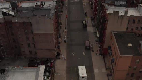 Birds View of Chinatown, New York City Street