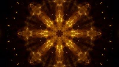 Shining Floral Gold Kaleidoscope Loop 4K