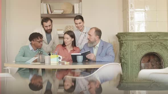 Five Businesspeople Talking