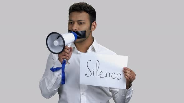 Silence and Censorship Concept