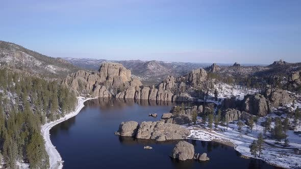 Thumbnail for Beautiful Scenic Lake or Pond or Reservoir Impoundment Man-made in Black Hills Pine Forest