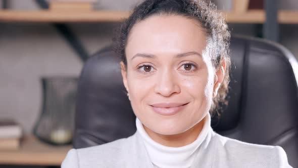 Confident Entrepreneur Close Up Face