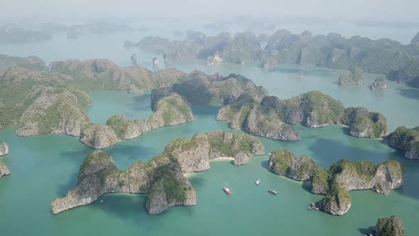 Cover Image for Aerial View of Ha Long Bay