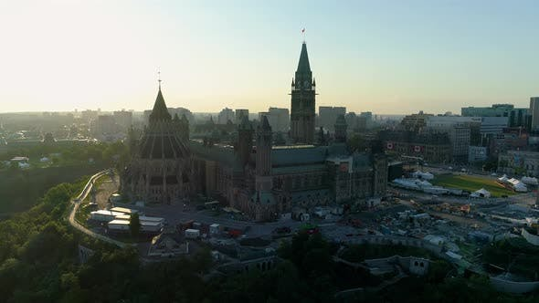 Thumbnail for Aerial of the Parliament Buildings