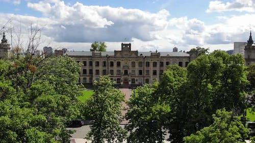 Old University Building Aerial