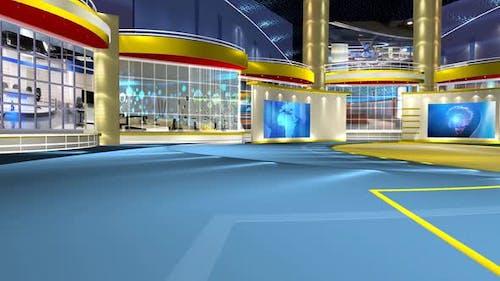 Virtual News Studio Set Background 311