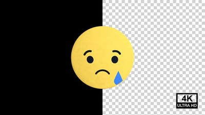 Sad Facebook Reaction Emoji 4K