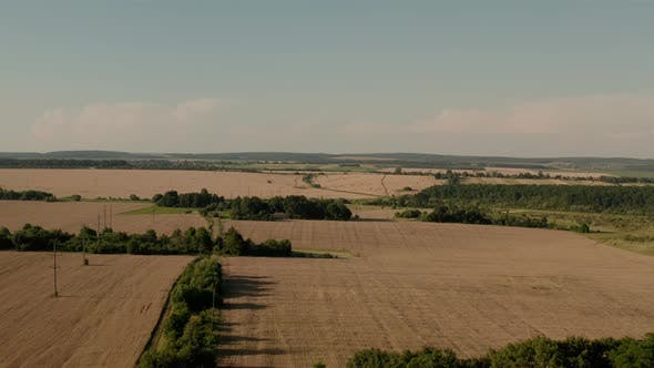 Thumbnail for Aerial Drone View Beautiful Nature on Rural Village Countryside Landscape, V2