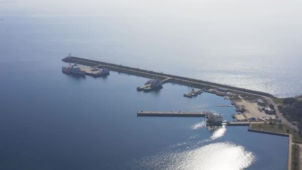 Thumbnail for Istanbul Maltepe Bosphorus Aerial View Breakwater