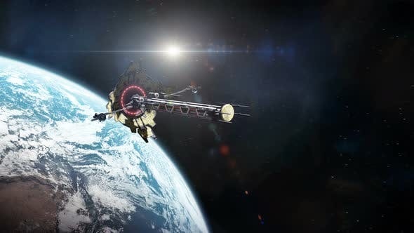 Thumbnail for Colony Ship Leaving Earth