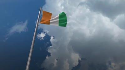 Ivory Coast Flag Waving 2K