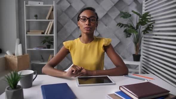 Female Recruiter During Online Interview