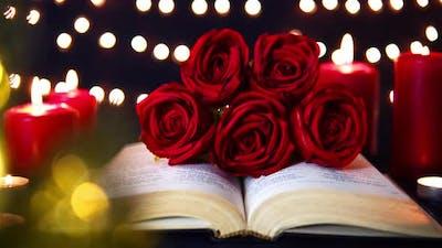 Rose Bouquet In Romance Night