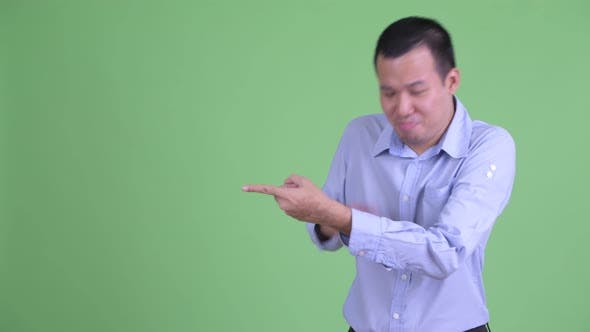 Cover Image for Happy Asian Businessman Pointing Finger and Laughing