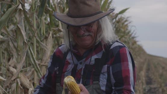 Thumbnail for Confident Elderly Farmer in Field