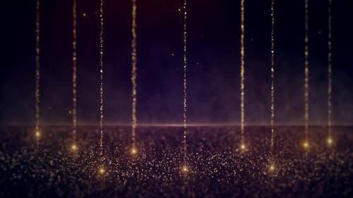 Golden Magic Dust Particles