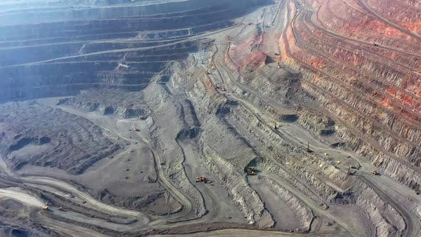 Thumbnail for Aerial View of Southern Mining Factory Mine Quarry in Ukraine