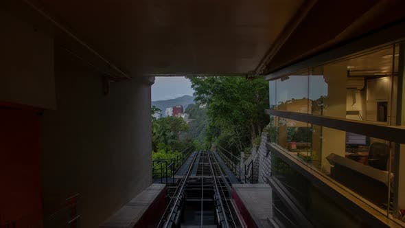 Thumbnail for The Peak Tram in Motion  Hong Kong