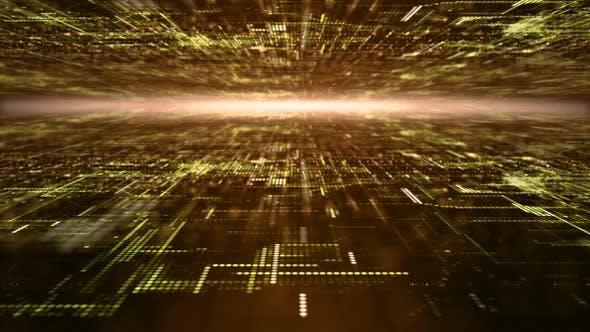 Thumbnail for Futuristic Digital Abstract Matrix Particles Grid 08