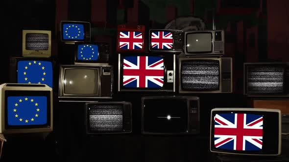 Thumbnail for Brexit Concept and Retro TVs.