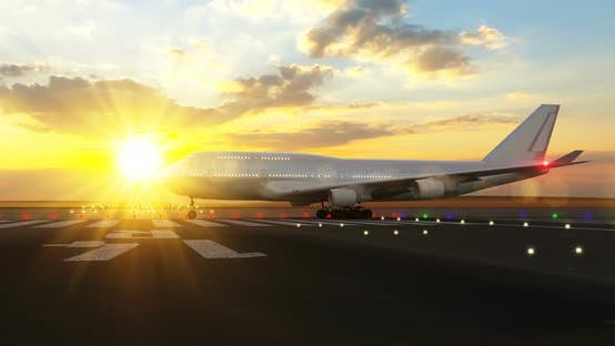 Cover Image for Passenger Airplane Preparing for Take Off