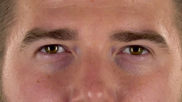 Thumbnail for Male Eyes Close Up, Macro Portrait