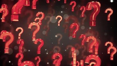 Falling Question Symbols