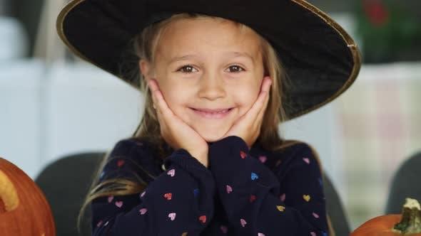 Thumbnail for Portrait of charming little girl