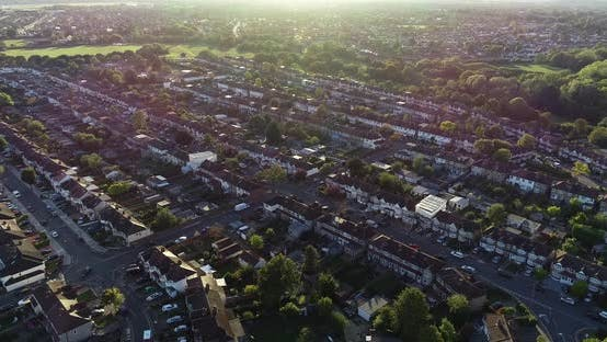Thumbnail for Aerial Sunny Of London Neighborhood