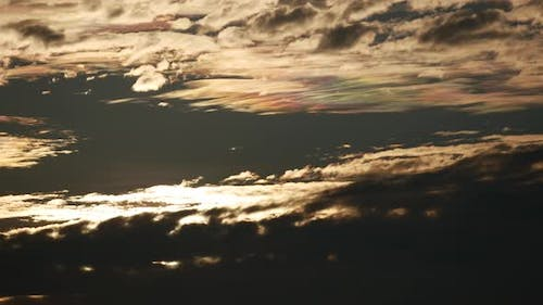 Timelapse beautiful cloud nearby before the sun rise.