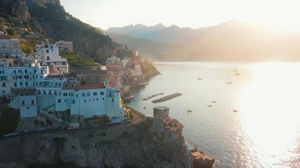 Thumbnail for Atrani Aerial By Dawn, Amalfi Coast