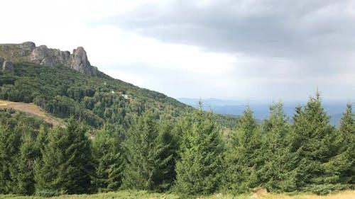 Panning on cliffs near  Babin Zub in Eastern Serbia 4K 2160p 30fps UltraHD footage - Beautiful natur