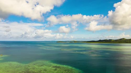 Time Lapse: Seascape with Tropical Islands and Turquoise Water