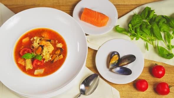 Thumbnail for Sicilian Tomato Seafood Soup