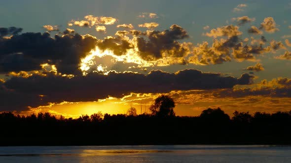 Thumbnail for Sunrise Clouds Sky Background, Timelapse