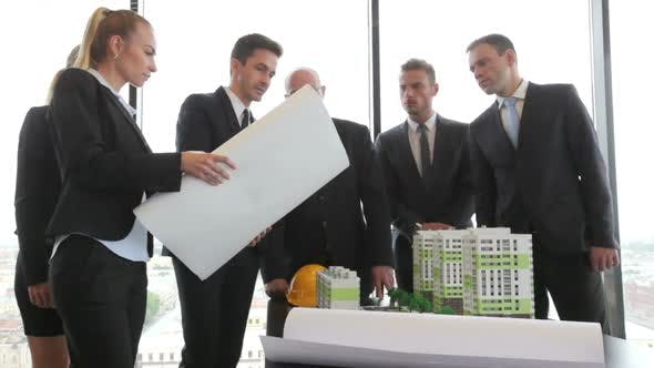 Cover Image for Business meeting of architects in office